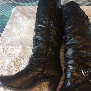 Guess heeled knee high boots